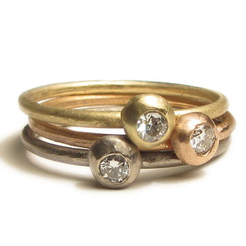 Set,of,three,18,Karat,18ct,Gold,stacking,rings,with,diamonds,handmade Jewellery,white gold Ring,engagement ring,gold stacking rings,diamond rings,18ct solid gold,engagement,anniversary,europeanstreetteam,uk,diamond rings stack,18k recycled gold,modern solitaire,white diamonds,750,au,18 carat,18 ct,handcrafted bespo