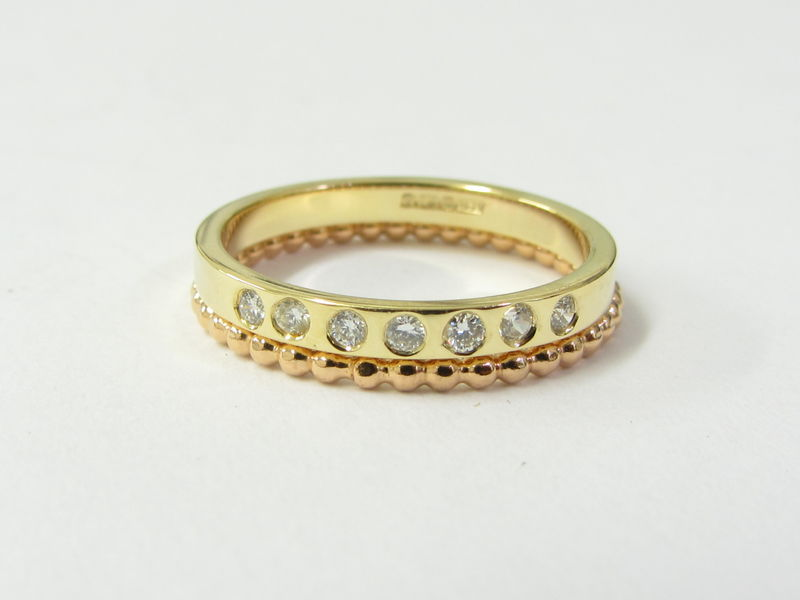 18K 18ct yellow gold band and diamonds eternity ring - product images  of