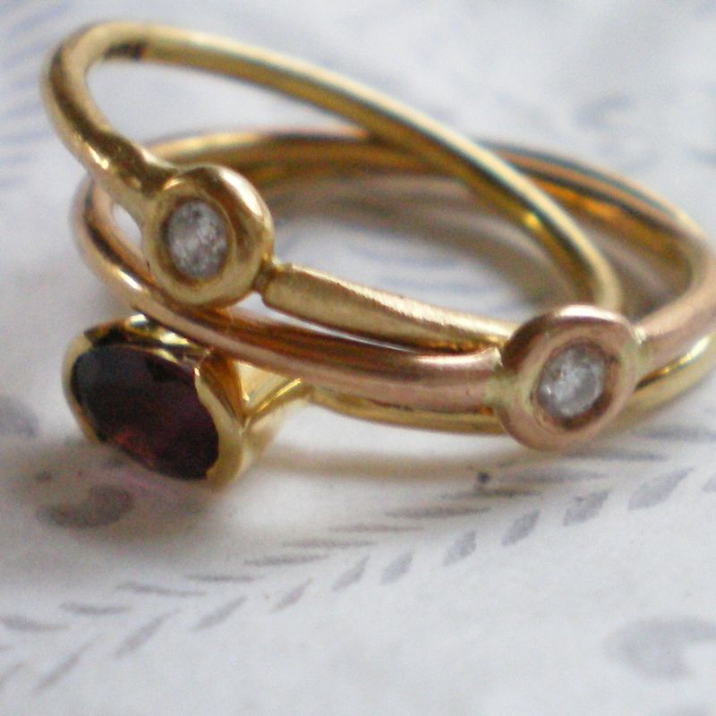 ESSOR - Pink Tourmaline and 18k gold ring - product images  of