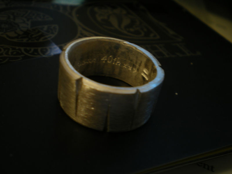 Le BEAU - a sterling silver ring for le MAN, oxidized finish - product images  of