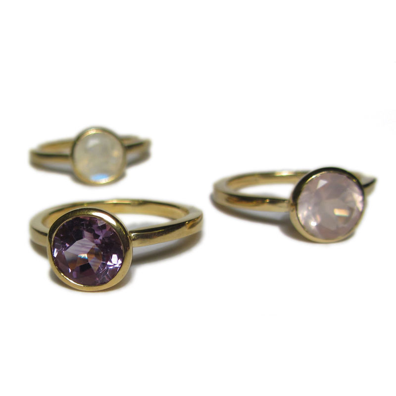 18CT Recycled Gold Cocktail Ring with a Rose Quartz Gemstone - product images  of