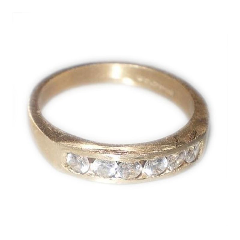 Eternity ring in 18K solid yellow gold with round diamonds - product images