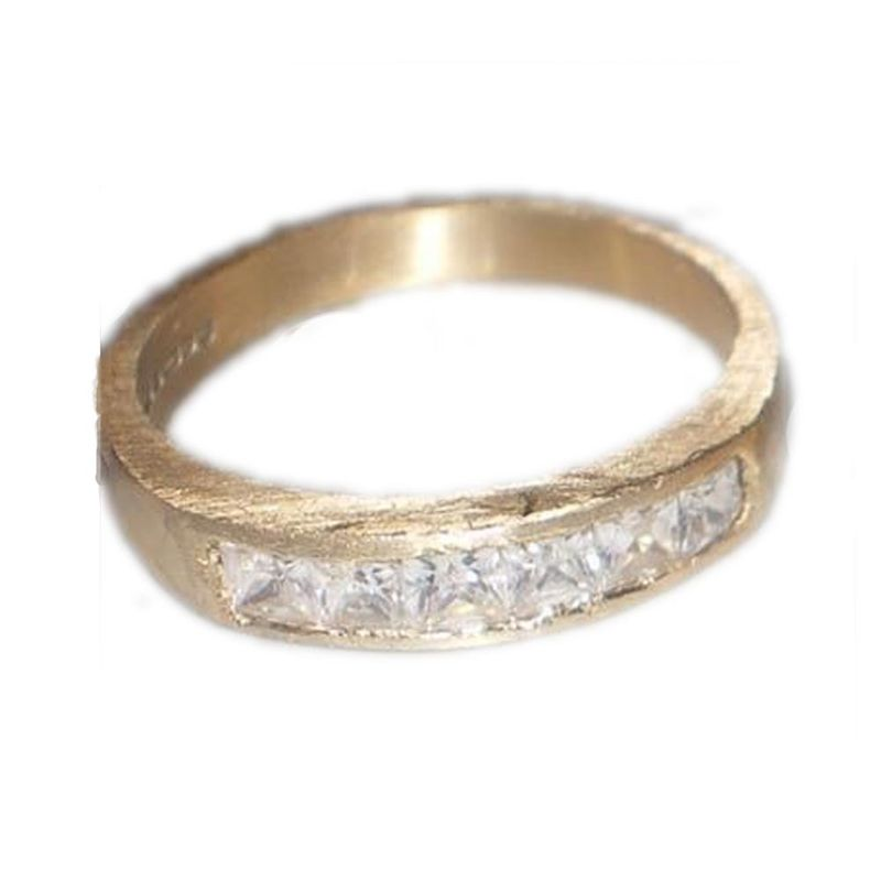 Eternity ring in 18ct yellow gold and diamonds - product images  of