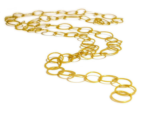 La,Grande,Coco,Handcrafted,18K,yellow,gold,chain,gold Jewelry,long gold chain,statement gold necklace,uk jeweller,long necklace,hammered chain,forged,goldsmithing,organic,french jewellery,teamfrench,handcrafted,18k,14k,au,ag,sterling,silver,18ct,yellow gold,18 Karat gold, catherine marche