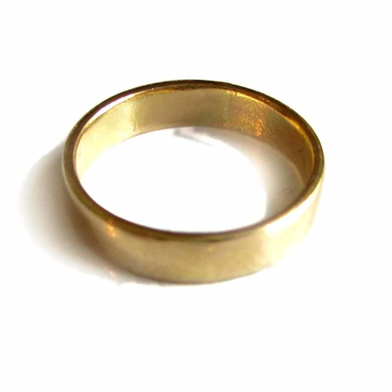 18ct Recycled Gold Wedding Band  - product images
