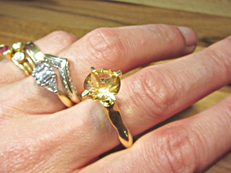 Passionata Sculptural Gold Vermeil Ring with Yellow Citrine - product images  of