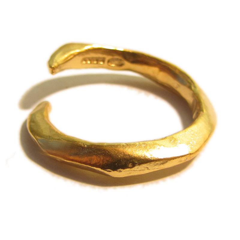 Gold plated Sterling silver Claw Ring - product images  of