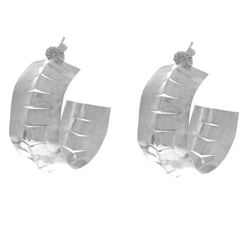 Sterling,silver,Creole,Hoops,catherine marche earrings, wide silver hoops, silver creoles, boucles d'oreilles en argent,serrated earrings