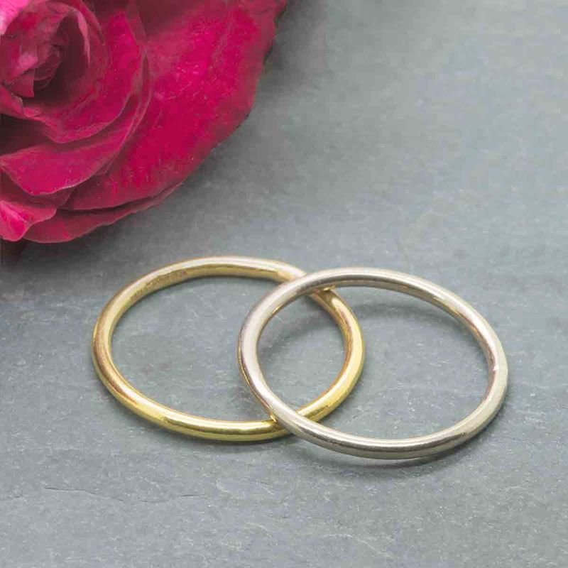 18K yellow gold stacking halo ring - product images  of
