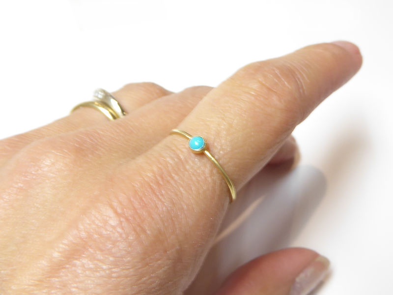 Minimalist 18ct gold turquoise ring - product images  of