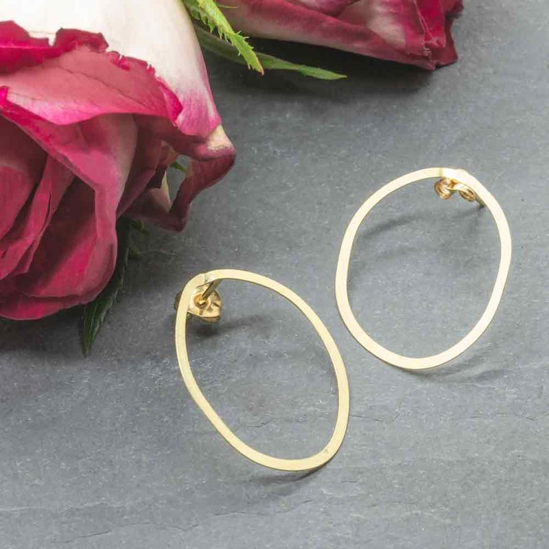 Large 18ct gold Stud Earrings  - product images  of