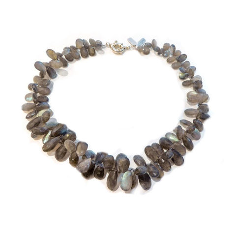 Opulent,Labradorite,Necklace,opulent labradorite necklace, catherine marche jewellery, natural labradorite gemstones, luxury fashion, grey gemstones