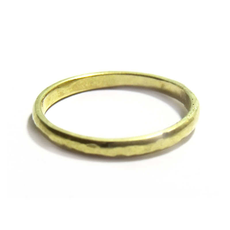 14 Karat yellow Gold Band, hammered finish 14ct - Commission - product images  of