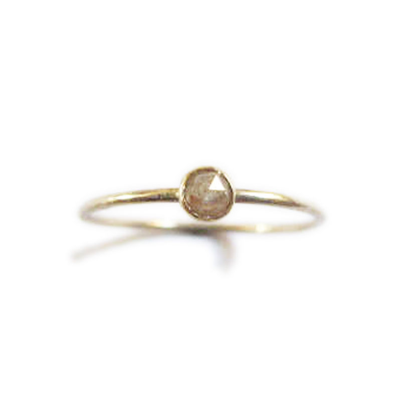 Rose cut Diamond Engagement Ring 18ct gold - product images  of