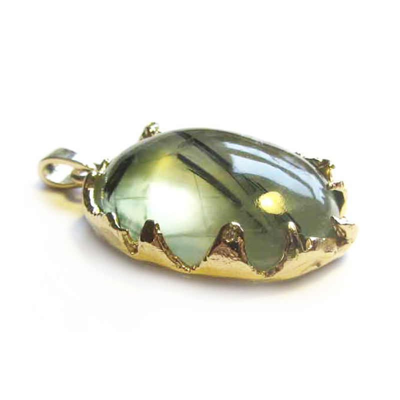 18ct gold Pendant with Prehnite and Diamonds - product images  of