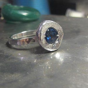 Bespoke Statement Sapphire Engagement Ring - product images