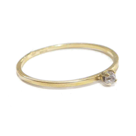Tiny,Diamond,18ct,Gold,Ring,diamond solitaire ring, 18ct gold mini ring, stacking ring, catherine marche jewellery, dainty ring