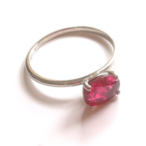 Bespoke,Red,Spinel,and,Platinum,Ring,bespoke jeweller, bespoke jewellery commission, stacking rings, made by hand, made in the UK, London Jeweller, red spinel ring
