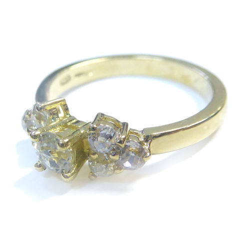 Upcycled,old,cut,diamonds,engagement,ring,diamond solitaire ring, 18ct gold mini ring, bespoke engagement ring, catherine marche jewellery, dainty ring, upcycling jewellery, old cut diamonds