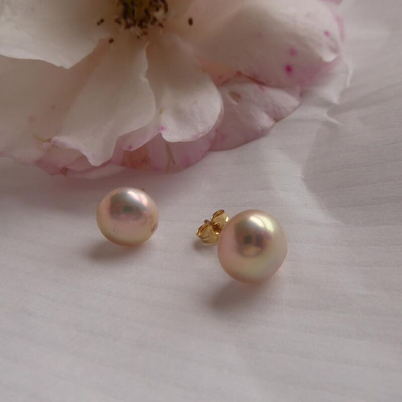 18ct Blush Pink Pearls Earrings  - product images  of