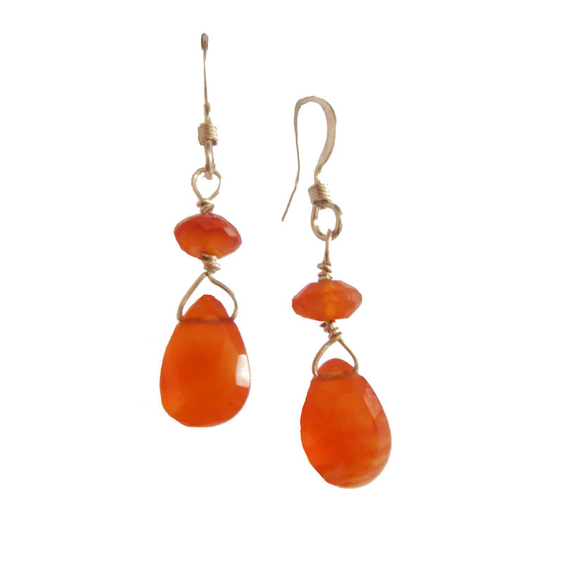 Tangerine Carnelian Earrings - product images