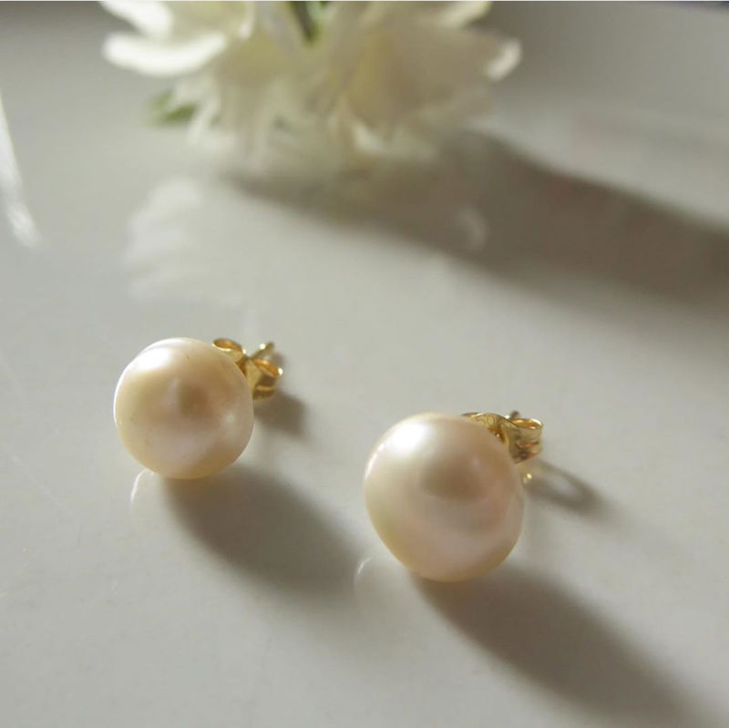 18ct Creamy white Pearls Earrings  - product images  of