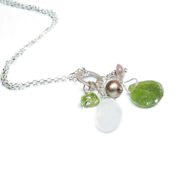 Greener the grass Talisman Cluster Necklace in sterling silver 925 - product images  of