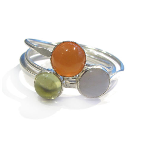 Minimalist,Peps,stacking,silver,rings,destiny rings, abundance jewellery, law of attraction jewelry, citrine ring, moonstone mini ring, minimalist jewelry,recycled silver, ethical jewellery, sustainable fashion, good luck jewellery, attract abundance, minimalist jewellery, catherine marche, f