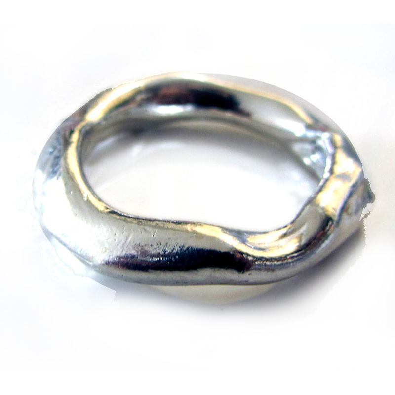 Wide Organic Molten in sterling silver - product images  of