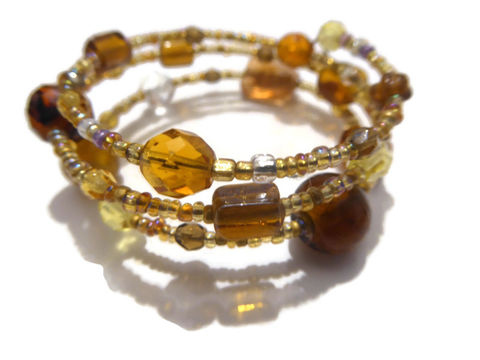 Murano,glass,bracelet,beaded glass bracelet, murano glass, brown and fauve bracelet
