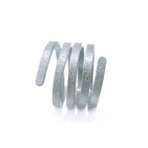 Twist,&,Curl,ring,Twist Ring,curly ring, silver ring 3 rows, parallel rings, recycled sterling silver , x factor jewellery, catherine Marche jewellery,bespoke jeweller London, ethical jewellery, sustainable fashion