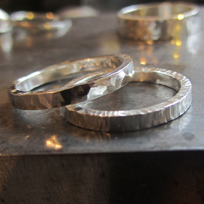 18ct recycled gold wedding bands You and I - product images