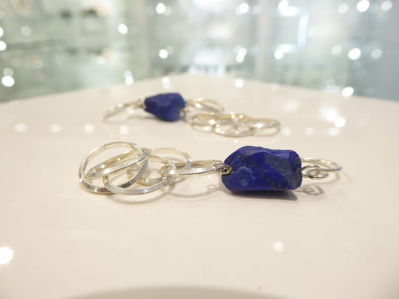 Lapis Lazuli Drop Earrings - product images  of