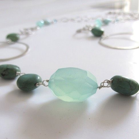De Bleu Vetu Turquoise and Silver Necklace - product images  of