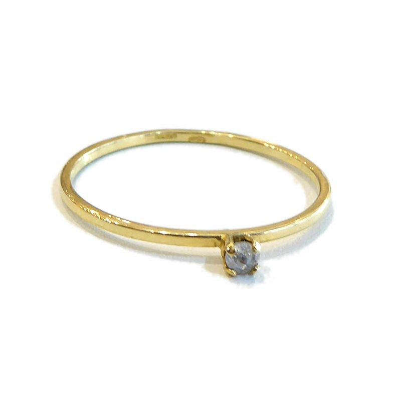 Salt and pepper Diamond Gold Ring in 18k 18ct recycled gold - product images  of