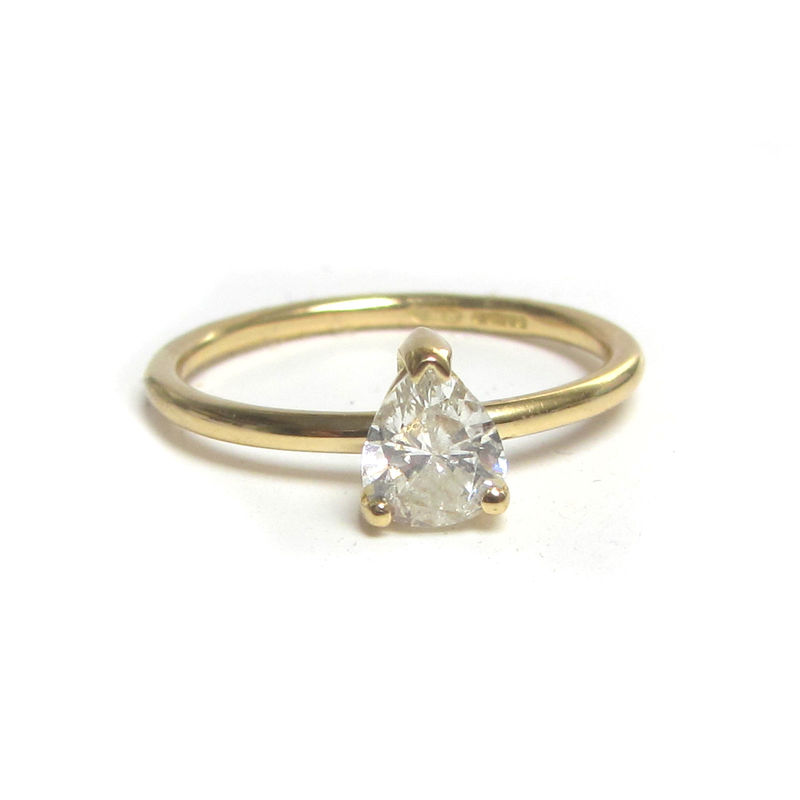 Pear Shape Engagement Diamond Solitaire - product images  of