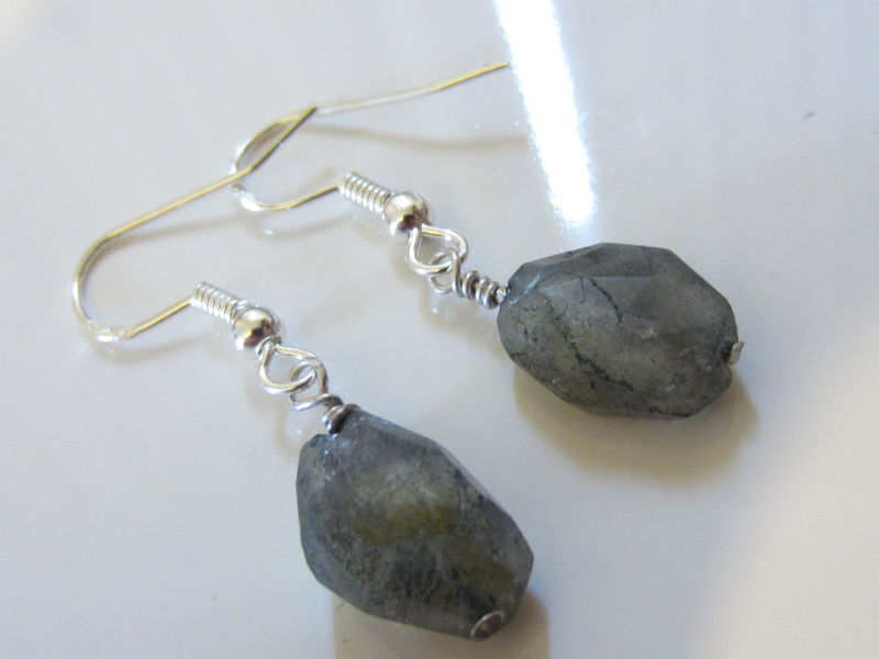 Asymetric Labradorite nuggets earrings - product images  of