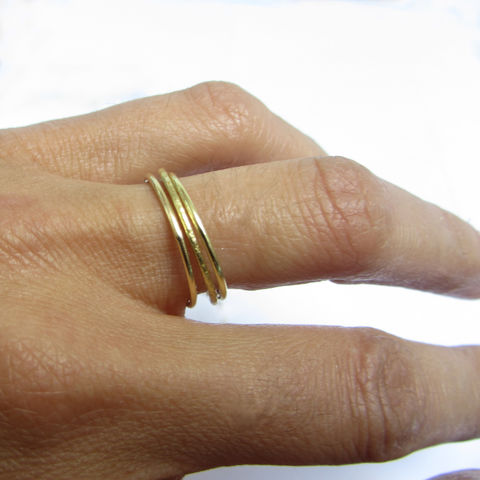 Bespoke,Set,of,3,minimalist,rings,in,18K,gold,special bespoke commission