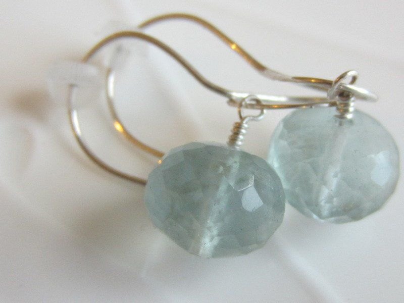 Light green Fluorite Earrings - product images  of