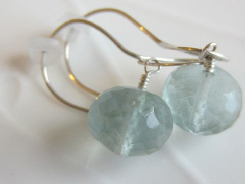 Light,green,Fluorite,Earrings,lithotherapy, healing gemstone, fluorite earrings, light green gemstone jewellery