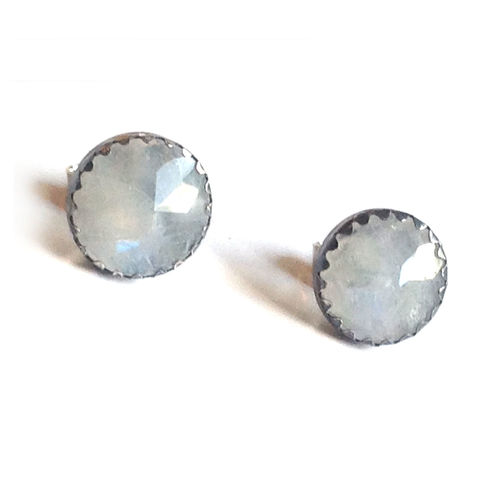 Milky,Moonstone,Stud,Earrings,Moonstone earrings, moonstone earstuds, white moonstone jewellery , Christmas gift for her, stylish women, office wear jewelry