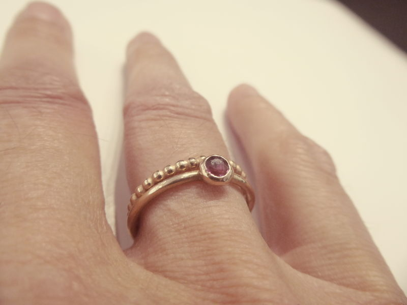 Ruby Solitaire Ring in Recycled 18K Rose Gold - product images  of