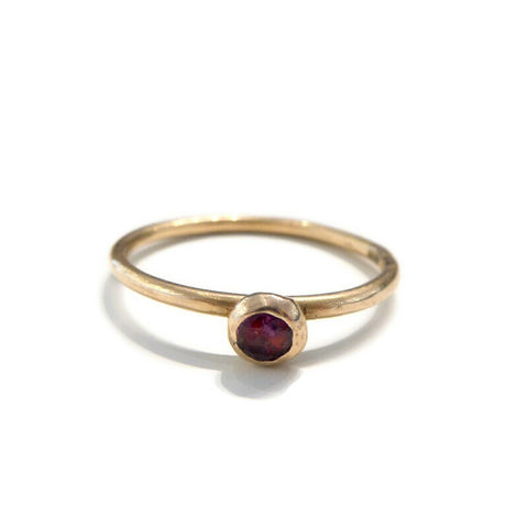 Ruby,Solitaire,Ring,in,Recycled,18K,Rose,Gold,Alternative Engagement ring, ruby ring, rose gold jewellery, recycled gold, catherine marche fine jewellery.