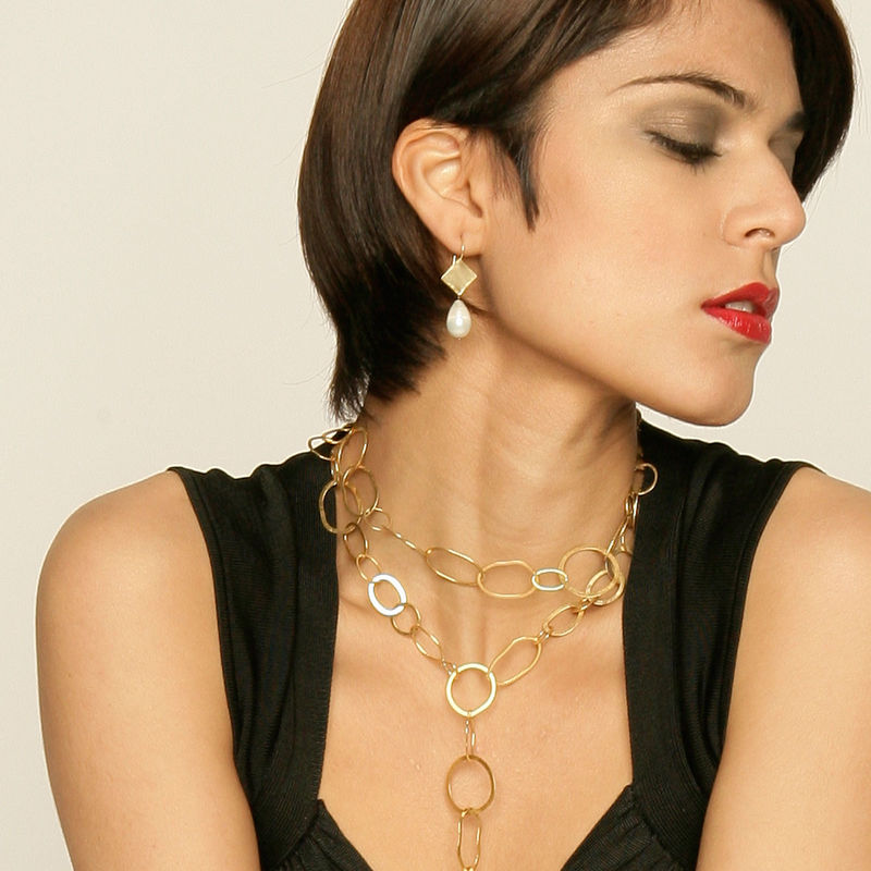 Double COCO  Handcrafted Recycled 18ct yellow gold chain - product images  of