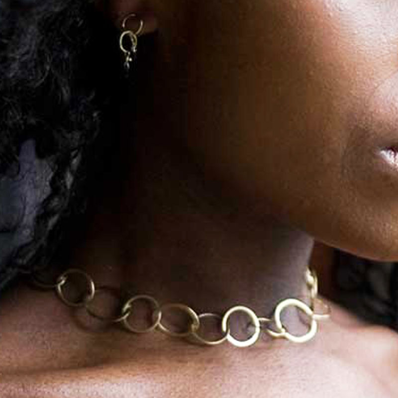 COCO Choker Handcrafted 18K yellow gold chain - product images  of