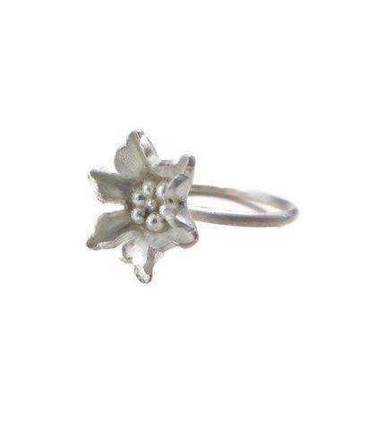 Blum,sterling,silver,flower,Ring,flower rings, bouquet of flowers, mini flower rings, flower stack, handmade Jewellery,minimalist silver Rings,Sterling silver,blooms,silver flowers,,handmade in the uk,jewellery,stackable rings