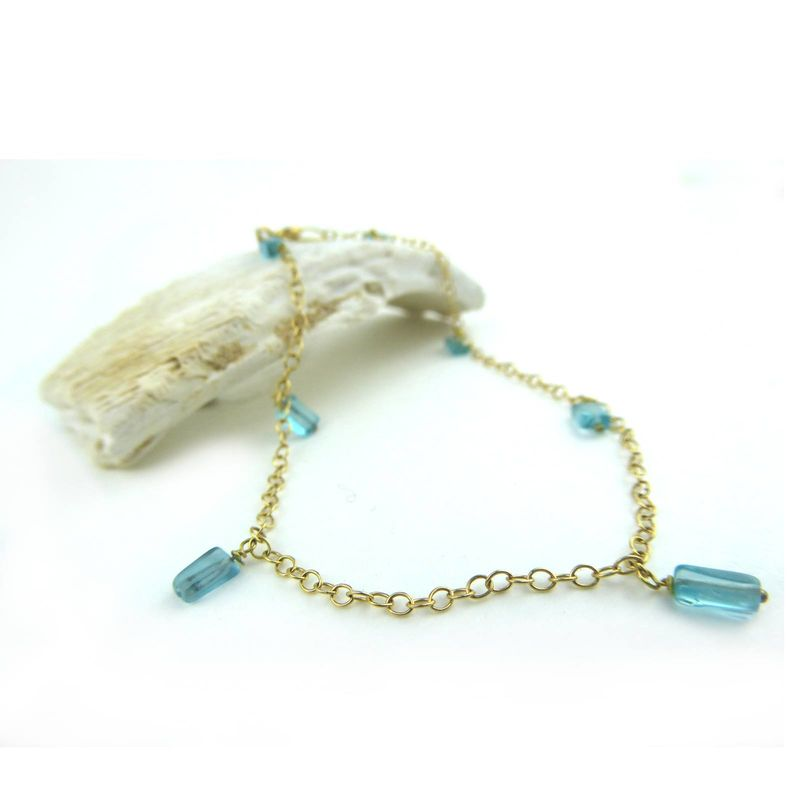 Apatite and 18K gold Bracelet - product images  of