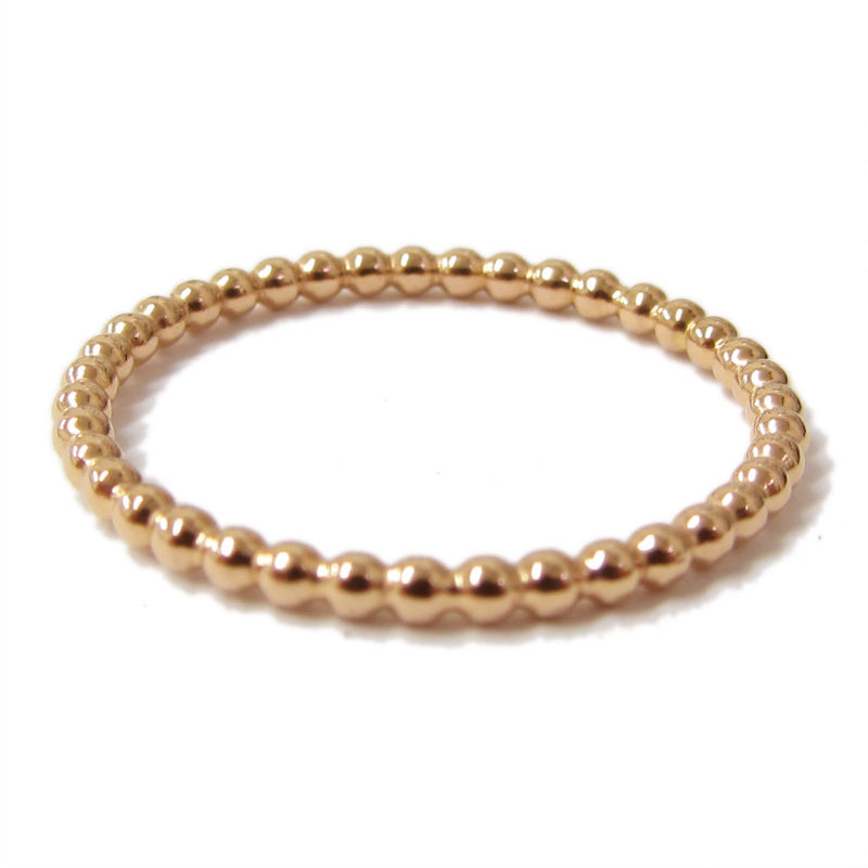 Bubbly Stacking Ring 18K Rose Gold - product images  of