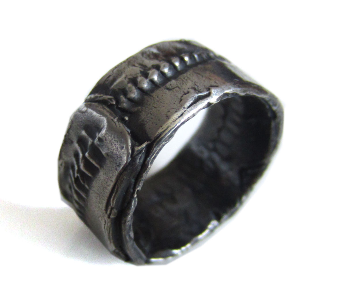 Oxidised Sterling Silver Ring for man - Catherine Marche Bespoke ...