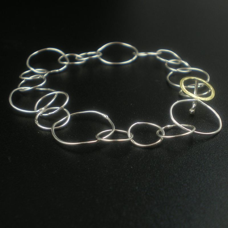 18K gold and Sterling Silver Bracelet - Loopy - product images  of